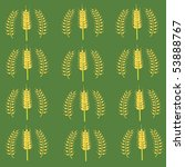 seamless pattern with wheat on... | Shutterstock .eps vector #53888767