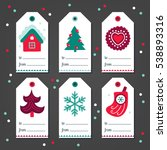 set of christmas gift tags with ... | Shutterstock .eps vector #538893316