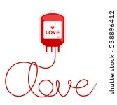blood bag type love red color... | Shutterstock .eps vector #538896412