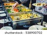 cuisine culinary buffet dinner... | Shutterstock . vector #538900702