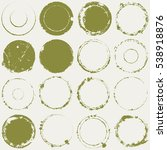 distressed circle stamp vector... | Shutterstock .eps vector #538918876