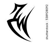 tribal tattoos design element.... | Shutterstock .eps vector #538928092
