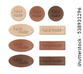 set of textured leather tags... | Shutterstock . vector #538931296