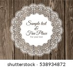 Vector Lace Frame With Text On...
