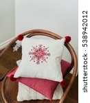 embroidered snowflake on white... | Shutterstock . vector #538942012
