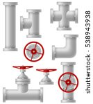 industry metalic pipes vector... | Shutterstock .eps vector #538943938