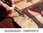 detail shot of an old and... | Shutterstock . vector #538945672