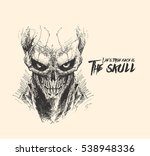 scratch devil skull   vampire... | Shutterstock .eps vector #538948336