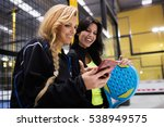 portrait of paddle tennis team... | Shutterstock . vector #538949575