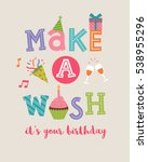 """make a wish"" typography design ... 