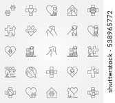 veterinary icons or logo... | Shutterstock .eps vector #538965772