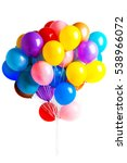 many colorful balloons isolated ... | Shutterstock . vector #538966072
