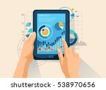 data analysis. working with... | Shutterstock .eps vector #538970656