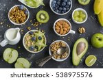 ingredients for a healthy... | Shutterstock . vector #538975576