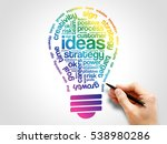 ideas sphere bulb words cloud ... | Shutterstock . vector #538980286