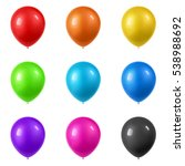 3d realistic colorful balloons... | Shutterstock .eps vector #538988692