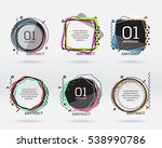 set of flat sale banners.... | Shutterstock .eps vector #538990786