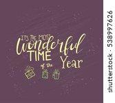 merry christmas lettering... | Shutterstock .eps vector #538997626