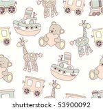 Stock vector seamless baby background 53900092