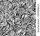 cartoon hand drawn doodles... | Shutterstock .eps vector #539008612