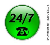 24 7 support phone icon.... | Shutterstock . vector #539012176