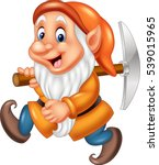 cartoon dwarf miner | Shutterstock .eps vector #539015965