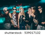 group of friends at club having ... | Shutterstock . vector #539017132