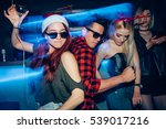 group of friends at club having ... | Shutterstock . vector #539017216