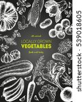 vegetables top view frame.... | Shutterstock .eps vector #539018605