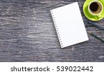 blank notepad glasses and... | Shutterstock . vector #539022442