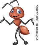 cartoon ant posing