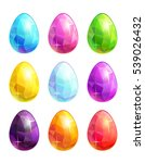 colorful crystal eggs set....