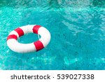 life ring on blue water at the... | Shutterstock . vector #539027338