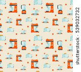vector seamless pattern with... | Shutterstock .eps vector #539032732