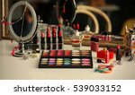 cosmetics on dressing table ... | Shutterstock . vector #539033152