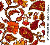 seamless pattern with fantasy... | Shutterstock .eps vector #539042632