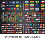 illustrated flags from the... | Shutterstock .eps vector #539063398
