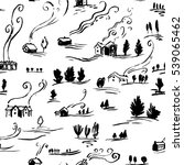 hand drawn seamless pattern... | Shutterstock .eps vector #539065462