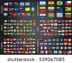 illustrated flags from the... | Shutterstock . vector #539067085