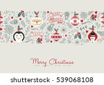 merry christmas illustration... | Shutterstock .eps vector #539068108