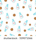 doodle seamless pattern with... | Shutterstock .eps vector #539071066