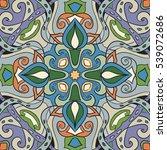 beautiful floral ornament....   Shutterstock . vector #539072686