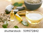 spa composition with tea oil... | Shutterstock . vector #539072842