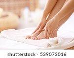 female feet in spa salon ... | Shutterstock . vector #539073016