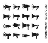 megaphone and announcement ... | Shutterstock . vector #539077282