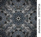mandalas background. grey ... | Shutterstock .eps vector #539078716