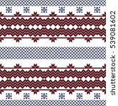 scheme for embroidery nordic... | Shutterstock . vector #539081602