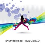 silhouette of a young happy man ... | Shutterstock .eps vector #53908510