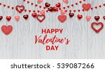 happy valentine's day greeting... | Shutterstock .eps vector #539087266