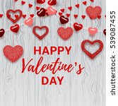 happy valentine's day card.... | Shutterstock .eps vector #539087455